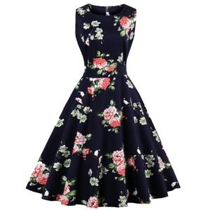 Dresses & Skirts - Navy Floral Dress NEW WITH TAGS